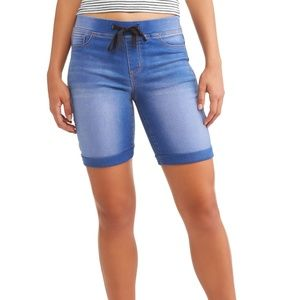 No Boundaries Juniors' Pull-On Bermuda Soft Shorts
